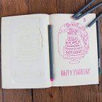 NouveLife Lot de 6 Pochoir Plastique Happy Birthday Pochoir Anniversaire Réutilisable Gâteau 10cm x 18cm Souple Stylo à Dessin Stylos-feutres Pointe Fine 0,38mm pour Scrapbooking Carte d'Anniversaire Décoration Murale de la marque NouveLife image 2 produit