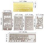NouveLife Lot de 7 Gabarit Pochoir Gabarit Scrapbooking Règle Pochoir Alphabet Marque-page Inox pour Bullet Journal Planner Agenda Planificateur de la marque NouveLife image 1 produit