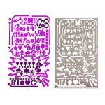 NouveLife Lot de 7 Gabarit Pochoir Gabarit Scrapbooking Règle Pochoir Alphabet Marque-page Inox pour Bullet Journal Planner Agenda Planificateur de la marque NouveLife image 3 produit