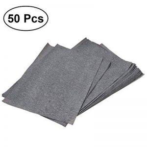 NUOLUX 50 feuilles de papier de transfert de carbone papier de calque graphite papier de carbone peinture carbone papier enduit de la marque NUOLUX image 0 produit