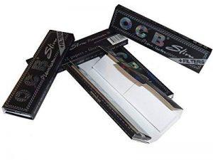 OCB Slim Lot de 10carnets de 32 feuilles à rouler et 32 bouts filtres Noir de la marque OCB image 0 produit