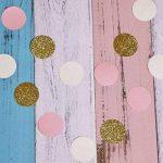 Ofoen pompons et lampions, 16pièces Multi couleurs papier de soie Polka Dot papier Guirlande de fête d'anniversaire de mariage Décoration de la marque ofoen image 3 produit