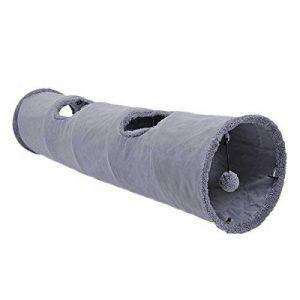 Ohana pliable léger Rondelle de Tunnel pour chat chaton Tube de papier avec Glissée trou amovible Pendentifs Gris Boule de la marque Ohana image 0 produit