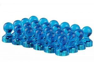 ONSON Lot de 24aimants de réfrigérateur Tableau blanc Aimants Ensemble de punaises pour cartes, Tableaux Blancs, calendriers et développement, bleu de la marque ONSON image 0 produit