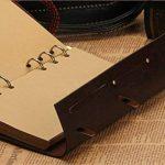 Ordinateur portable rechargeable Journal en cuir avec papier spécial Feather Marque-page et stylo à bille, non doublé de voyage Agenda Jotter, faite à la main doux rustique Carnet de notes en cuir, vintage Art croquis, Vapeur Punk Coque Motif pour cadeau image 3 produit