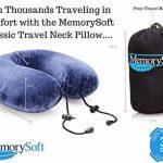 Oreiller de Voyage Par MemorySoft - Moelleux et Confortable Coussin de Voyage (Petit Modèle) de la marque MemorySoft image 1 produit
