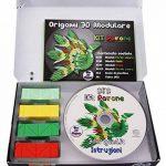 """Origami 3d Kit paon/Peacock 310 pZ. – Carton """"pre-segnato pour facile auto-réglable égal à 1/32 sur base A4 Plus DVD video-tutorial en italien et anglais – niveau moyen – Fabriqué en Italie de la marque Ying 3D Origami image 1 produit"""