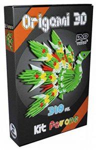 """Origami 3d Kit paon/Peacock 310 pZ. – Carton """"pre-segnato pour facile auto-réglable égal à 1/32 sur base A4 Plus DVD video-tutorial en italien et anglais – niveau moyen – Fabriqué en Italie de la marque Ying 3D Origami image 0 produit"""