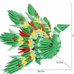 """Origami 3d Kit paon/Peacock 310 pZ. – Carton """"pre-segnato pour facile auto-réglable égal à 1/32 sur base A4 Plus DVD video-tutorial en italien et anglais – niveau moyen – Fabriqué en Italie de la marque Ying 3D Origami image 4 produit"""