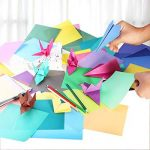 Origami Feuilles carrées d'Origami Papier Coloré pour Bricolage Artisanat Art 200 Feuille 50 Couleur Vif de la marque ULTNICE image 2 produit