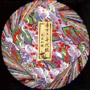 Origami - Loisirs Créatifs - Assortiment de Papier Washi à Motifs Japonais Traditionnels (Yuzen Washi) et de Papier Washi uni (Mingei Washi) - Motifs et Couleurs Assortis - 40 feuilles au total - 15cm x 15cm de la marque Générique image 0 produit