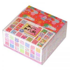 Origami - Loisirs Créatifs - Papier Origami à Motifs (Chiyogami) - Print Chiyogami - Coffret de 40 Motifs Assortis - 13 Feuilles de chaque - 520 Feuilles au total - 7,5cm x 7,5cm de la marque Générique image 0 produit