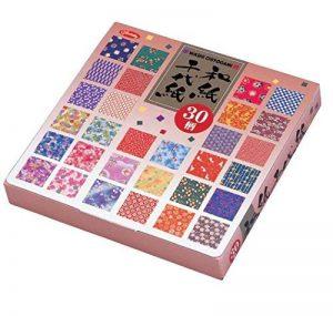 Origami - Loisirs Créatifs - Papier Washi à Motifs (Washi Chiyogami) - Coffret de 30 Motifs Assortis - 5 Feuilles de chaque - 150 Feuilles au total - 15cm x 15cm de la marque Générique image 0 produit