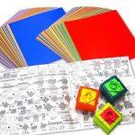Origami - Loisirs Créatifs - Papier Origami Uni - Coffret de 60 Couleurs Assorties - 220 Feuilles - 15cm x 15cm de la marque Générique image 1 produit