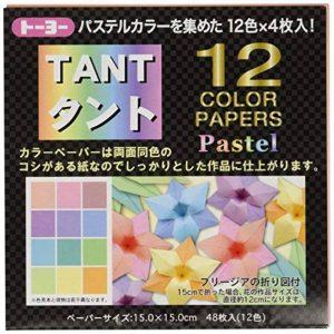 """Origami-papier 068005 tANT 12 couleur """"pastel"""" 15 cm de la marque TOYO image 0 produit"""