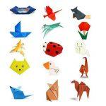 Origami,Papier origami 100 Feuilles Origami Set 50 Couleurs pour Projet Art and Craft 15x15CM Carré pour les Enfants et Adultes de la marque Febbya image 4 produit