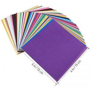 Origami pliant Couleur éclatante carré Feuilles de papier pour DIY Art Crafts Lot de 200 de la marque ULTNICE image 0 produit