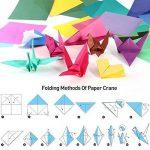 Origami pliant Couleur éclatante carré Feuilles de papier pour DIY Art Crafts Lot de 200 de la marque ULTNICE image 4 produit