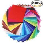 Origami pliant Couleur éclatante carré Feuilles de papier pour DIY Art Crafts Lot de 200 de la marque ULTNICE image 5 produit