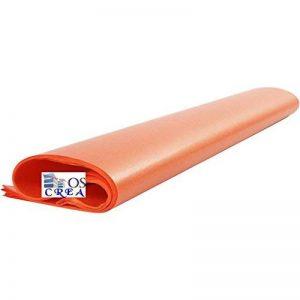 oscrea Papier de soie Orange, 50x 70cm, 100feuilles, 14g/m² de la marque OSCrea image 0 produit
