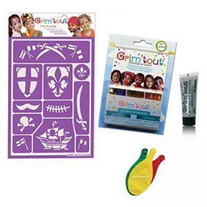 Pack maquillage Chevalier Pirate sans paraben: 1 Pochoir + 12 Crayons de maquillage + 1 Gel pailleté + 3 Ballons Blumie de la marque Blumie Shop image 0 produit