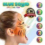 Palette de Maquillage pour enfants by Blue Squid | 16 Palettes de Face Painting Couleurs, 30 pochoirs, 3 pinceaux | Peinture de qualité professionnelle pour enfants et adultes | Haute qualité et non-toxique Ensemble de peinture à base d'eau vibrant | + Gu image 4 produit