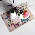 Papier à Lettres Bleu vintage retro 50feuilles DIN A4en kit pour des deux côtés Motif papier Décoration de mariage idéal pour certificats Invitations Noël ancienne carte au trésor de la marque Partycards image 6 produit