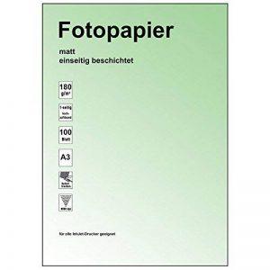 Papier a3 pour imprimante jet d'encre mat supprimé 180 g - 50 feuilles - 1 face avec revêtement de pression mich de la marque Ruck Zuck image 0 produit