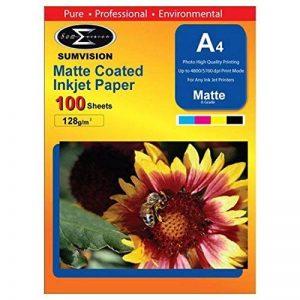 Papier A4 128gm (Matte Premium Photo Finition Professionnelle) 100 Feuilles Paquet (210 x 297 mm) iCHOOSE de la marque iChoose Limited image 0 produit
