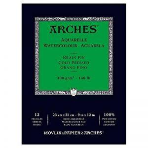papier aquarelle arches grain fin TOP 10 image 0 produit