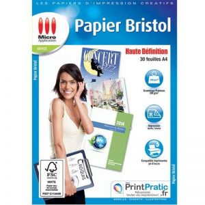 Papier Bristol Recto Verso de la marque Micro Application image 0 produit