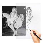 Papier Calque (100 Feuilles), Aodoor Papier à dessin Translucide Papier calque A4 Super qualité pour dessiner, bricoler de la marque Aodoor image 4 produit