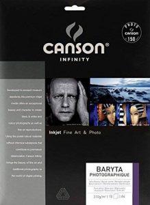 Papier CANSON INFINITY Baryta Photographique 310g A4 10 feuilles de la marque Canson image 0 produit
