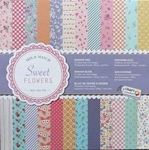 Papier cartonné pour Scrapbooking 24 feuilles 30 x 30 cm de la marque Craft Sensations image 0 produit