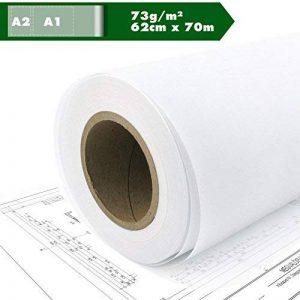 Papier de construction croquis rôle papier calque calque papier semi-transparent A1 A2 73g / m² 62 cm x 70 m (62cm x 70m) de la marque Kultloggen image 0 produit