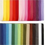 Papier de soie assortiment, 21x 29,7cm (format A4), 300feuilles, 14 g10 feuilles de 30couleurs différentes de la marque Creavvee image 3 produit