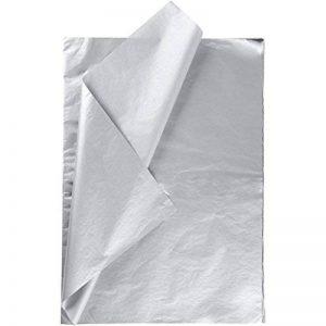 Papier de soie, feuille 50x70 cm, 14 gr, argent, 25feuilles de la marque Creativ Company image 0 produit