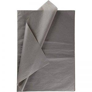 Papier de soie, feuille 50x70 cm, 14 gr, gris, 25feuilles de la marque Creativ Company image 0 produit
