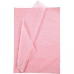 Papier de soie - feuille 50x70 cm, 14 gr, Rose, 25 feuilles de la marque Creativ Company image 0 produit