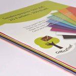 Papier de soie OfficeTree® 300 feuilles A4 - 20 coloris – des heures de bricolage, création et décoration en perspective – Papier pour esquisser et découper – qualité premium 16 g/m2 de la marque OfficeTree image 3 produit