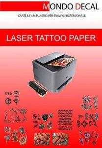 Papier de Tatouage Temporaire, 1kit taille A4, formule modèle «laser de la marque MONDO DECAL image 0 produit