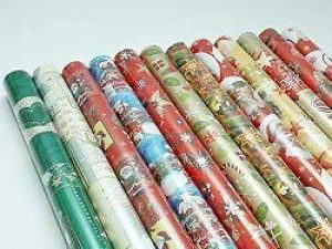 Papier emballage cadeau de noël de 2 m x 0,7 m-contenu de la livraison: 10 rouleaux de papier cadeau motifs de noël différents de la marque Euregioversand image 0 produit