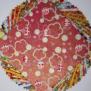 Papier japonais Yuzen Washi Chiyogamim 15x 15cm Feuilles Y00410 de la marque Japanese Paper and Crafts image 0 produit