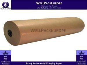 Papier kraft 600mm x 225m * * Livraison Rapide * * solide Kraft Void Remplir Rouleau de papier–Rouleau de papier d'emballage Kraft d'imitation * * par Wellpack Europe de la marque Wellpack Europe image 0 produit