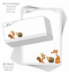 papier à lettre animaux TOP 8 image 0 produit