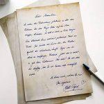Papier à lettre Mauve Vintage Retro 50feuilles DIN A4en kit des deux côtés Papier Décoration de mariage idéal pour certificats Invitations Noël ancienne carte au trésor de la marque Partycards image 2 produit
