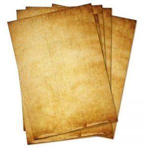 Papier à lettre vintage - Lot de 50feuilles A4- Papiers à motifs imprimés des deux côtés - Effet vieilli Idéal pour les certificats, invitations, mariages, décorations, Noël, cartes au trésor de la marque Partycards image 0 produit