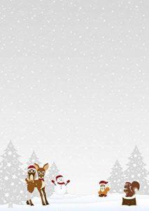 Papier à Lettres Animaux de la forêt de Noël/hiver–Motif papier A490g/m² 50 Blatt de la marque Ideenstadl image 0 produit