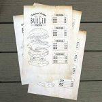 Papier à Lettres Bleu vintage retro 50feuilles DIN A4en kit pour des deux côtés Motif papier Décoration de mariage idéal pour certificats Invitations Noël ancienne carte au trésor de la marque Partycards image 4 produit