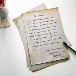 Papier à Lettres Bleu vintage retro 50feuilles DIN A4en kit pour des deux côtés Motif papier Décoration de mariage idéal pour certificats Invitations Noël ancienne carte au trésor de la marque Partycards image 2 produit